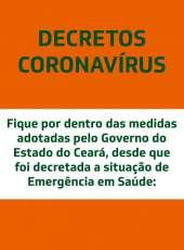 Decretos do Governo do Ceará com ações contra o coronavírus