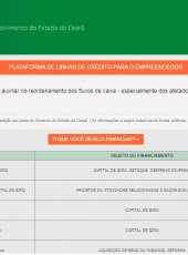 Governo do Ceará lança plataforma para facilitar busca por linhas de crédito